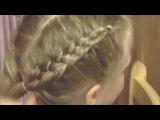 Лёгкая причёска. Коса из ЧЕЫРЁХ прядей. Дракончики))