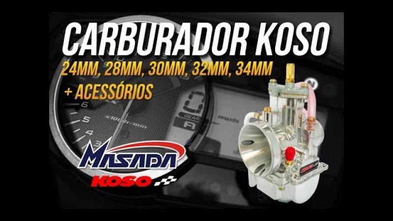 Carburador Competição PJ Guilhotina Koso PowerJet 24mm até 34mm - Masada