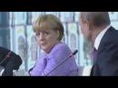 Юмор Путина и реакция Ангелы Меркель - Анекдот про брачную ночь