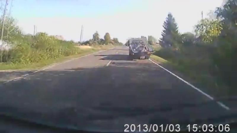 ДТП на 33-м километре дороги на Советск. Калининградская область. 9 утра. 14 сентября 2015 года