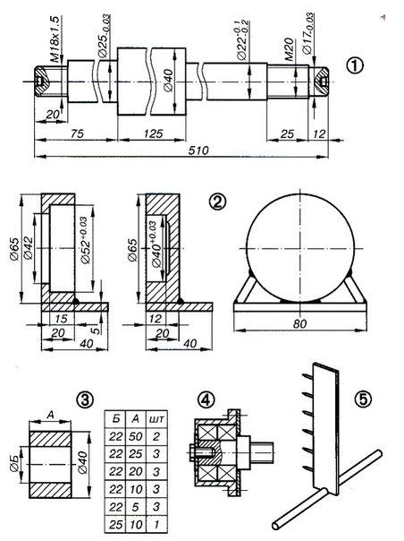 3 — установочная втулка;