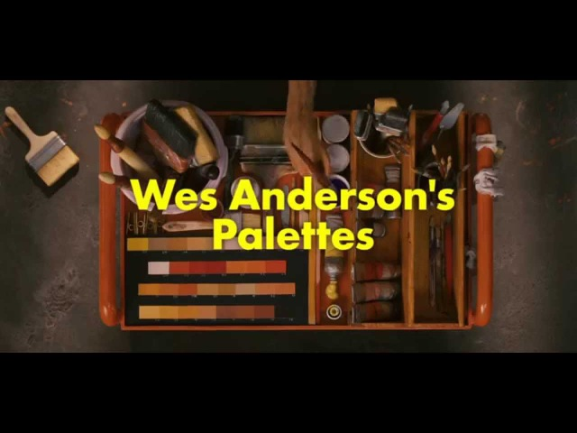 Wes Andersons Colour Palettes