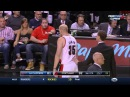 Chris Kaman shoves Chris Paul, LaMarcus Aldridge shoves Glen Davis  Clippers at Blazers
