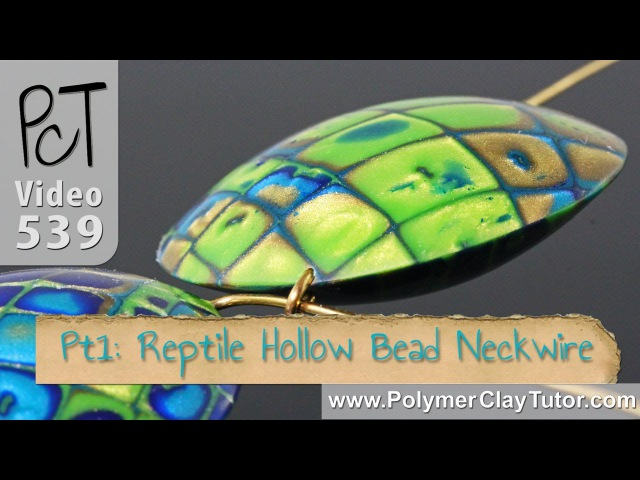 Reptile Pattern Hollow Lentil Bead Polymer Tutorial (Intro Vol-074)