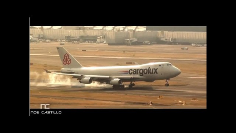 Cargolux - Boeing 747-400 Landing at Mexico City Airprot