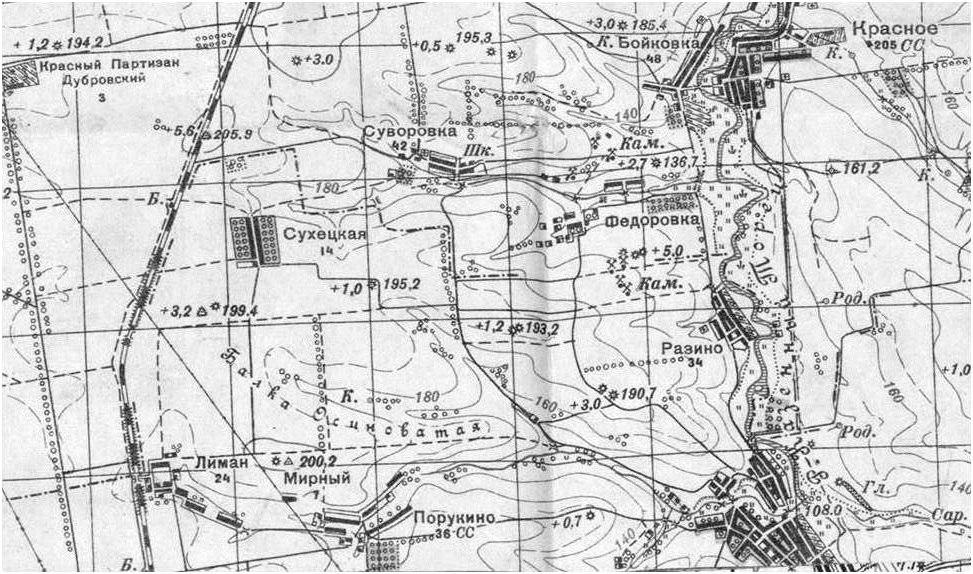 Будка Сухецкого разъезда на карте 30-х годов