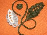 Вязание ирландского кружева Листик