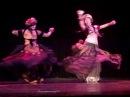 Carolena Nericcio Megha Gavin and Philippa Moirai dancing at Tribal Pura EdinburghShow