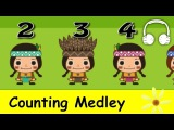Muffin Songs - Counting Medley Nursery Rhymes Collection Five Little Monkeys, Ten in the Bed