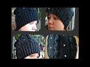 осенняя женская шапка, вязание спицами - Autumn womens hat, knitting