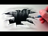 How to Draw a 3D Hole - Optical Illusion