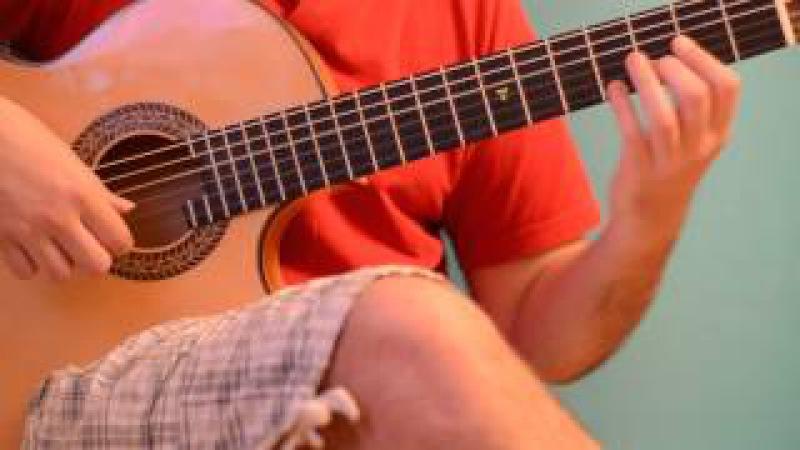 Как играть на гитаре Пираты Карибского моря 1
