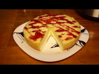 Бисквит с творожной начинкой в мультиварке рецепт с фото