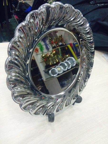 тарелка серебряная