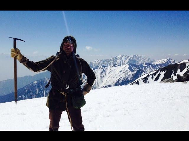 Японские Альпы. Съемки фильма на высоте 3000 метров.