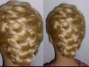 Причёска с плетением для средних, длинных волос.Причёска на выпускной, вечерняя,...