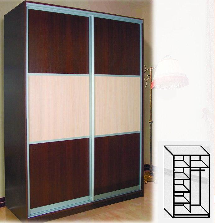 Шкаф купе цвета венге фото
