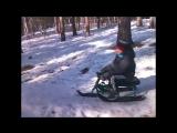 Прыжки на снегокате