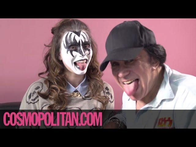 Gene Simmons Gives KISS Makeup Tutorial | Cosmopolitan