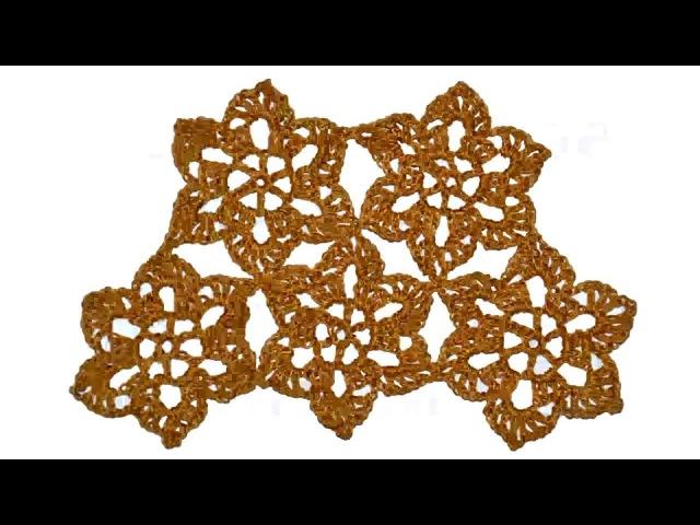 Безотрывное Вязание Крючком. Ажурные шестиугольные мотивы крючком.