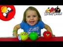 Энгри Бердс шары с сюрпризом открываем игрушки Angry Birds surprise balls unboxing toys