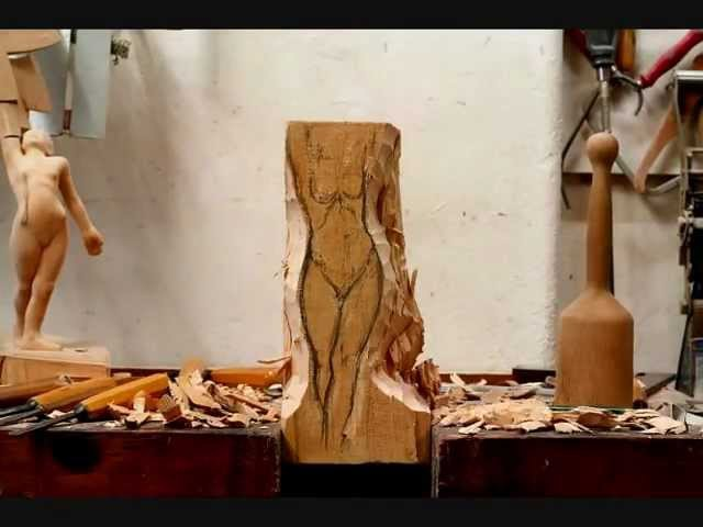 Wood carving time lapse by Heinrich Eder
