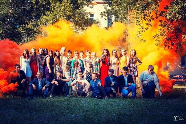 Цветной дым в Нижнем Новгороде