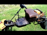 мой мини трактор из мотоблока