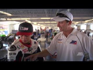MotoAmerica riders testing Dainese D-Air Racing