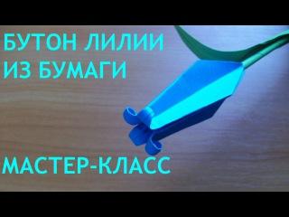 Как Сделать Бутон Лилии Оригами. Цветы Из Бумаги Своими Руками DIY Origami Lily Bud