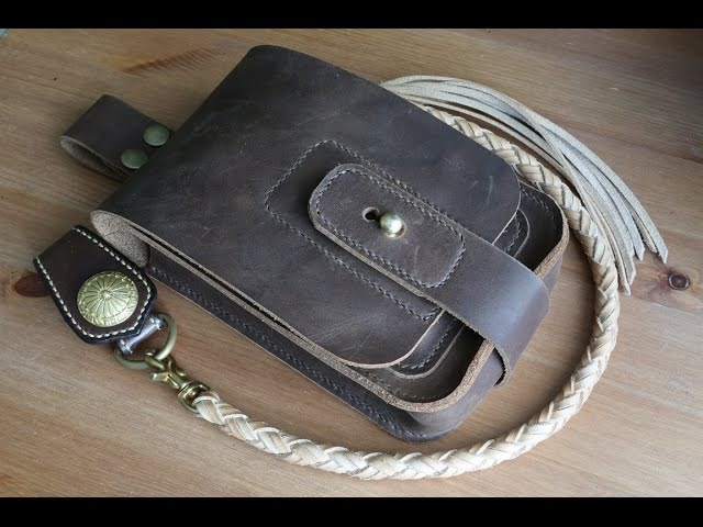 Making a leather waist bag