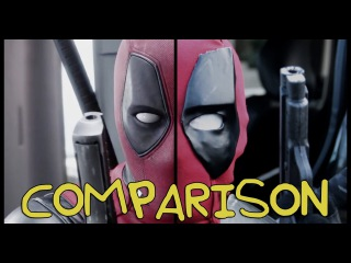 Deadpool Trailer- Homemade Side-by-Side Comparison