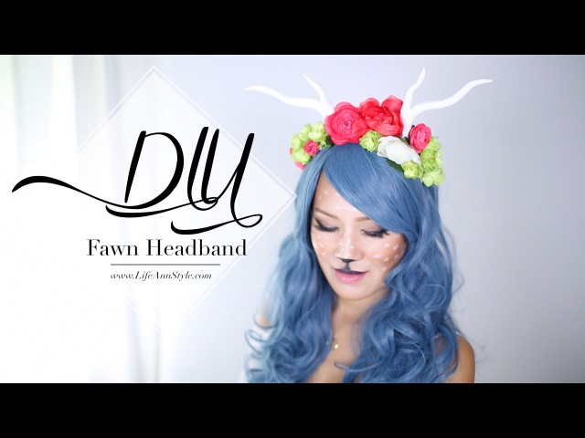 DIY Antler Headpiece | Fawn Costume | ANN LE