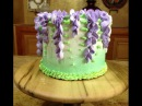 Wisteria Cake and Wooden Cake Platter