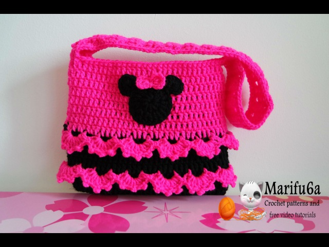How to crochet minnie mouse bag soda tab purse full free pattern tutorial for beginners