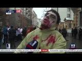 Киев Как американские оккупанты приучают детей жидомайдаунов пить кровь Русских младенцев