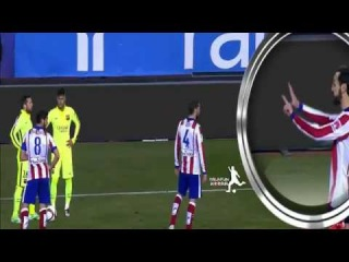 ● NJR 11 | Juanfran makes the gesture of 7 to Neymar ( Juanfran Reminds Neymar of Germany 7-1 Brazil 2014 )
