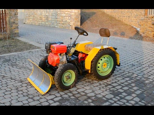 Самодельный трактор для уборки снега Tractor hydraulic