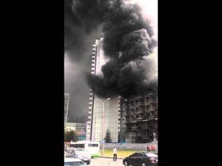 Пожар на строительстве гостиницы в Новокосино 5