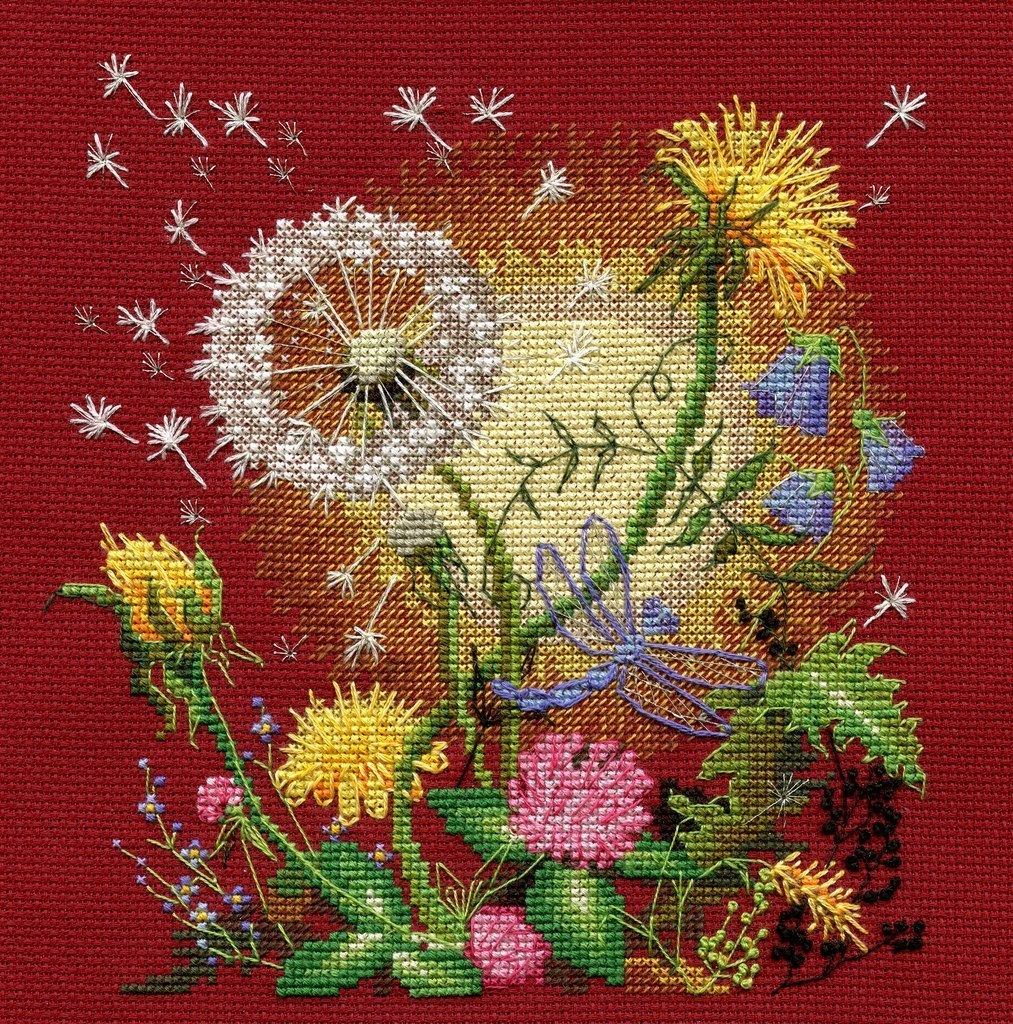 Вышивка цветы к солнцу