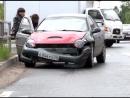 Газель, Toyota и Dodge не поделили перекрёсток. Северодвинск.