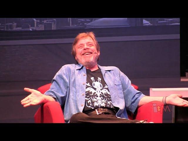 Mark Hamill does Joker and Luke Skywalker voice dialogue at Star Wars Weekends 2014