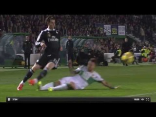 Aaron Niguez Horror Foul on Gareth Bale - Elche vs Real Madrid 2015