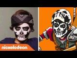 Teenage Mutant Ninja Turtles  Casey Jones Halloween Make Up Tutorial  Nick