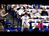 Peyton 'Peanut' dancing at Rupp Arena at Sweet 16