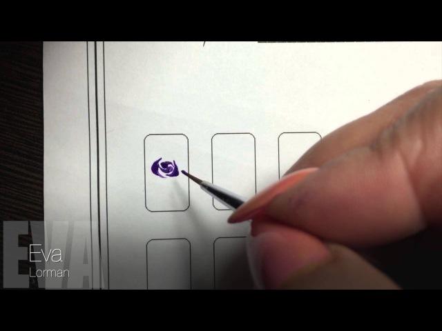 Роспись ногтей! Роза! Урок 9! Все Видео уроки!