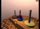 Ханойские башни - 3D логическая игра