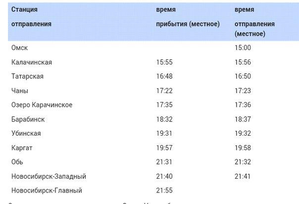 Сообщением Омск - Новосибирск.