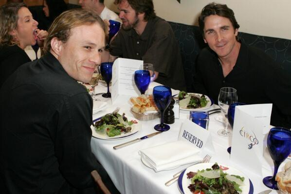 Последний ужин Хита Леджера с Кристианом Бейлом