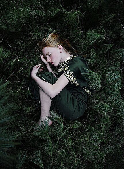 девочка зелень